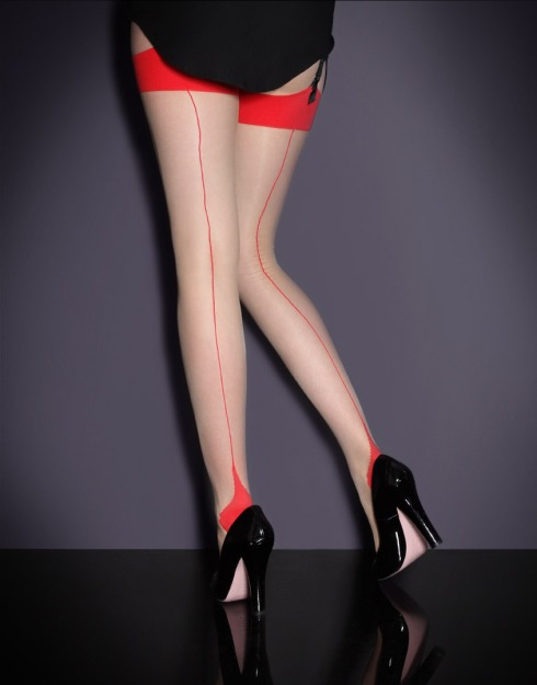 agent+provocateur+seam+heel+strech+stockings